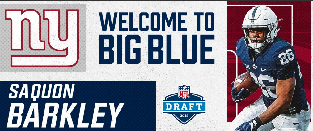 New York Giants Select Saquon Barkley With The Second Pick In NFLDraft